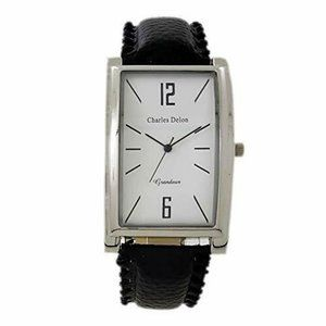 Charles Delon Casual Style Black/Silver Watch